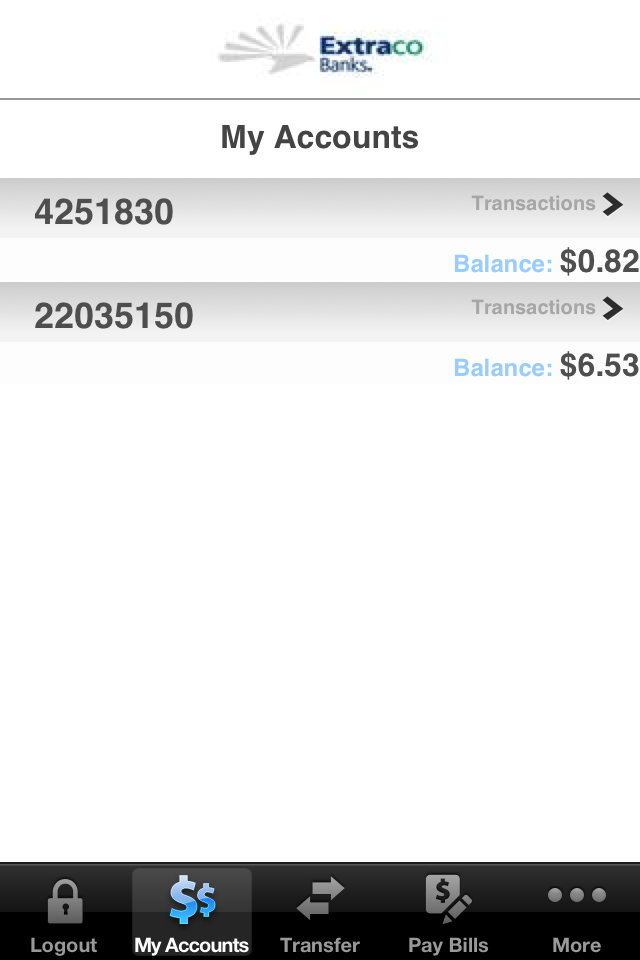 Image of Extraco Banks Mobile Banking for iPhone